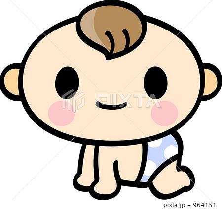 赤ちゃん キャラクター 子供のイラスト素材 964151 Pixta