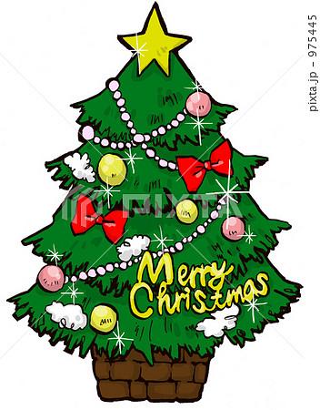 クリスマスツリーのイラスト ... : クリスマス 飾り 無料 : 無料