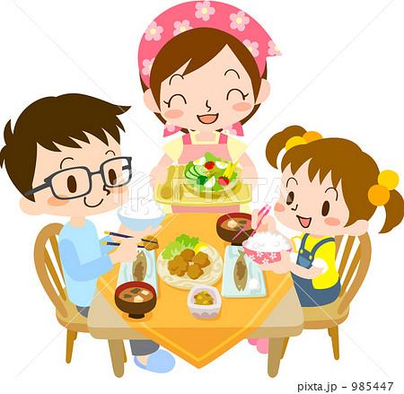 食卓を囲む家族のイラスト | 無料イラスト素材 …