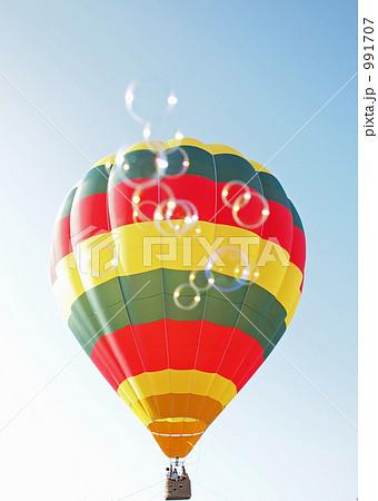熱気球とシャボン玉と 991707