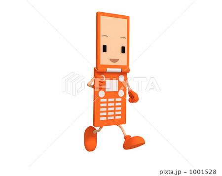 携帯電話キャラクターのイラスト素材 1001528 Pixta