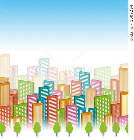 ビル群 ビル 都会のイラスト素材 1003294 Pixta