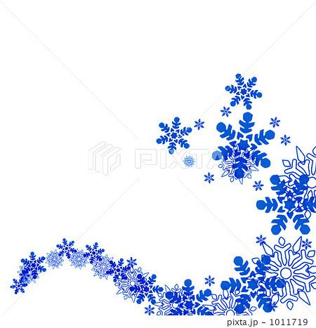 雪の結晶のイラスト素材 1011719 Pixta