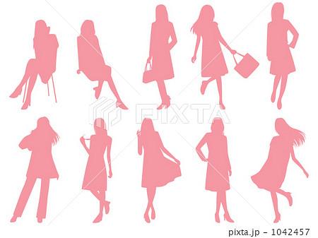 シルエットの女性(ファッション)