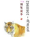 縦の白背景のトラ 1068962