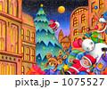 クリスマスプレゼント クリスマスイヴ サンタクロースのイラスト 1075527