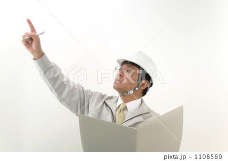 作業服を着たミドルビジネスマン 1108569