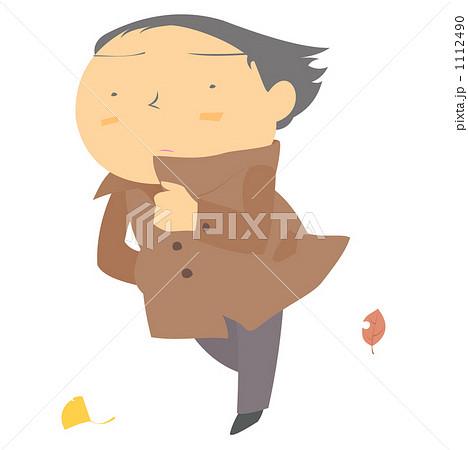 木枯らし 男性 北風のイラスト素材 1112490 Pixta