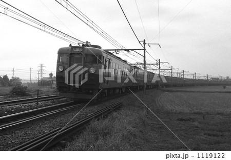鉄道 国鉄・東北本線 165系急行日光1号  昭和57年 1119122