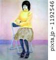 黄色いセーターを着た女性 1192546