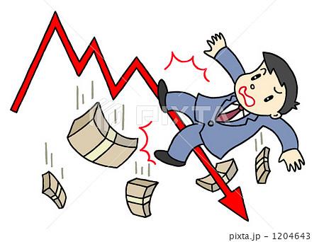 株価下落、株価急落 1204643
