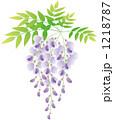 藤色 藤の花 ベクターのイラスト 1218787