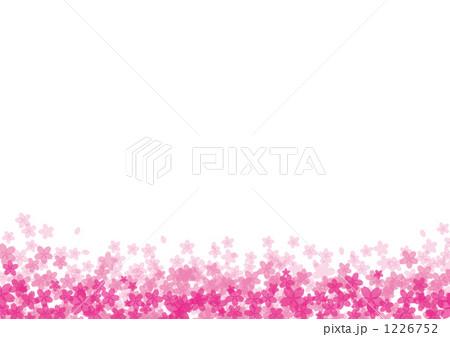 桜イラスト下からグラデーションのイラスト素材 1226752 Pixta