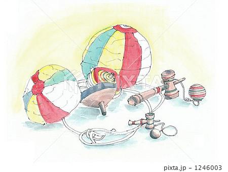父の絵 昔のおもちゃのイラスト素材 1246003 Pixta