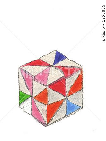 クリスマス 折り紙 折り紙 立方体 : pixta.jp