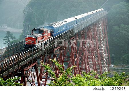 余部鉄橋を渡るブルートレイン・特急出雲 1259243
