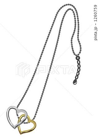 ハートのネックレスのイラスト素材 [1260759] , PIXTA