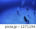 スキューバダイビング ダイバー 水中の写真 1271194