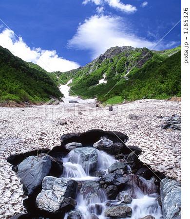 南アルプス北岳と融雪の大樺沢 1285326