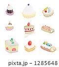 プチケーキ カットケーキ スイーツのイラスト 1285648