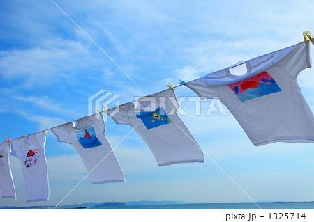 風になびくシャツ 1325714