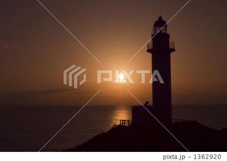 灯台の夕焼け 1362920
