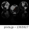 地球儀 世界地図 日本列島のイラスト 1363827