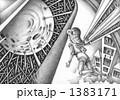 想像画 鉛筆画 メルヘンのイラスト 1383171