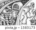 鉛筆画 想像画 メルヘンのイラスト 1383173
