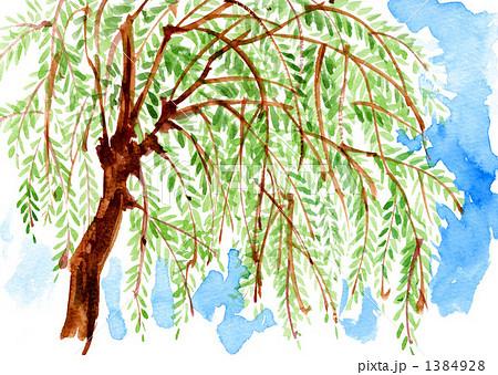 柳の木のイラスト素材 1384928 Pixta