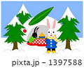 雪ウサギかまくら(主線カラー) 1397588