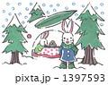 雪ウサギかまくら(手描き) 1397593