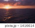 海面 夕焼け 海の写真 1416614