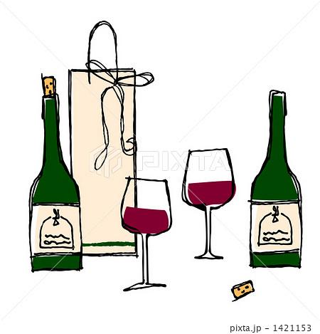 ワインのイラスト素材 1421153 Pixta