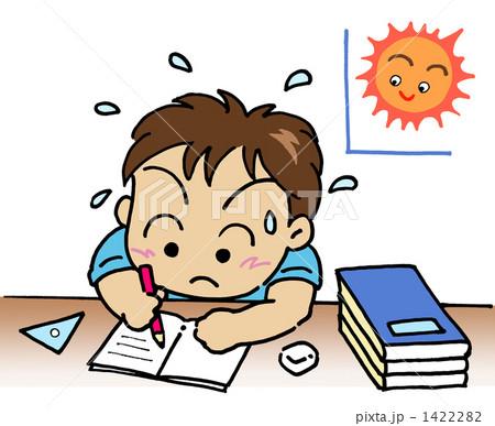 夏休みの宿題のイラスト素材 ... : 自由研究小学生 理科 : 小学生