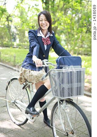 写真素材: 自転車通学