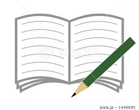 ノートと鉛筆のイラスト素材 1446695 Pixta