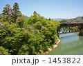 鉄橋 SL 蒸気機関車の写真 1453822