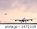 着陸 ロサンゼルス空港 滑走路の写真 1472116