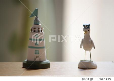 灯台 カモメ 置物の写真素材 [1487349] - PIXTA