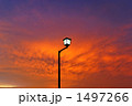 夕暮れの街灯 1497266