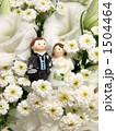 白い花束とブライダル・キャンドル 1504464