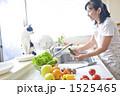 フルーツ キッチン 女性の写真 1525465