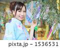 浴衣 七夕 祭りの写真 1536531
