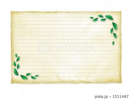 木の葉と便箋のイラスト素材 ...