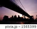 ブルックリンブリッジとマンハッタン 1565399