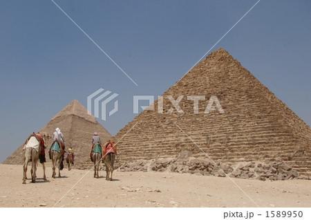 ピラミッドとラクダ 1589950