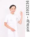 医療 ナース 白衣の写真 1593236