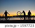 絶景の海と大好きな自転車と友人 1597723