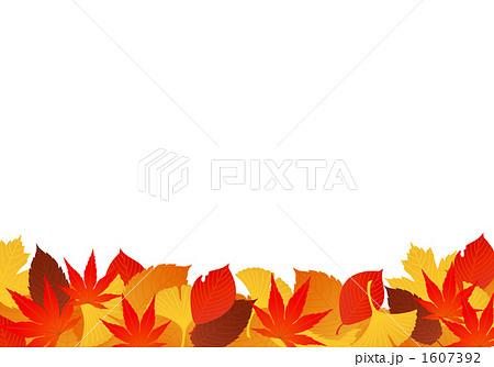 落ち葉 秋のイラスト素材 1607392 Pixta